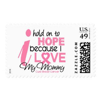 Esperanza del cáncer de pecho de mi mamá sello postal