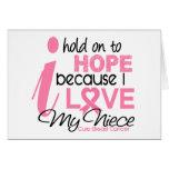 Esperanza del cáncer de pecho de mi sobrina tarjetas