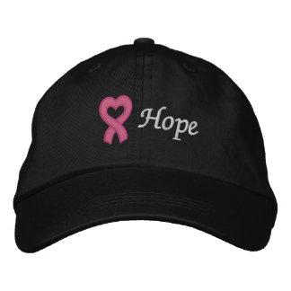 Esperanza del cáncer de pecho gorra de béisbol