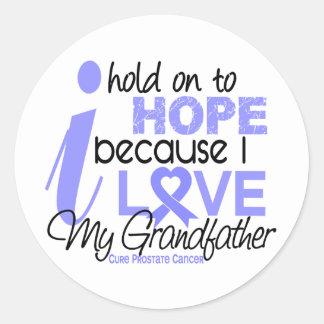 Esperanza del cáncer de próstata de mi abuelo pegatina redonda
