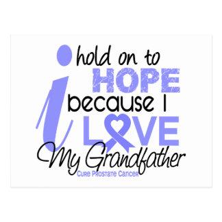 Esperanza del cáncer de próstata de mi abuelo tarjeta postal