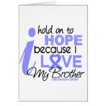 Esperanza del cáncer de próstata de mi Brother Felicitación
