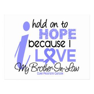 Esperanza del cáncer de próstata de mi cuñado postales