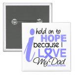 Esperanza del cáncer de próstata de mi papá pins
