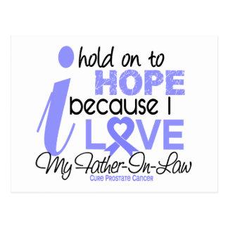 Esperanza del cáncer de próstata de mi suegro tarjetas postales