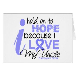 Esperanza del cáncer de próstata de mi tío tarjeta de felicitación