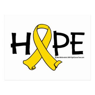 ESPERANZA del cáncer de vejiga Tarjeta Postal