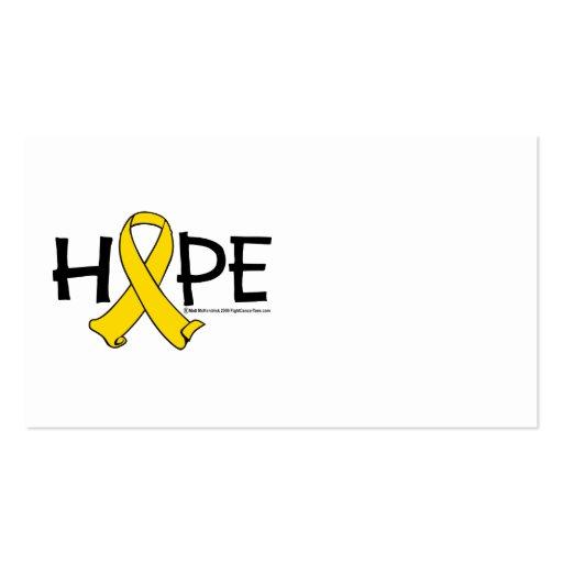 ESPERANZA del cáncer de vejiga Tarjetas De Visita