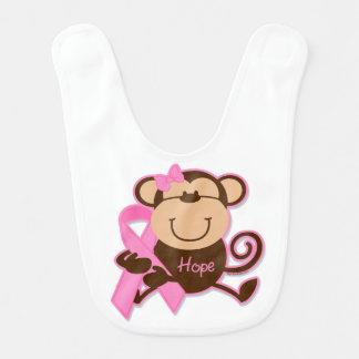Esperanza del cáncer del mono baberos de bebé
