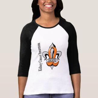 Esperanza del cáncer del riñón de la flor de lis camiseta