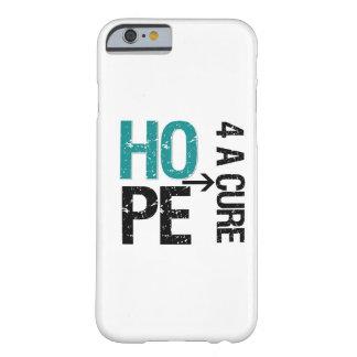 Esperanza del cáncer ovárico de una curación funda de iPhone 6 barely there