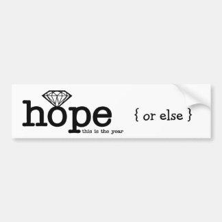 Esperanza del compromiso - anillo de diamante etiqueta de parachoque