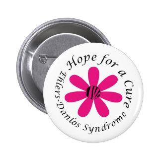 Esperanza del EDS de un botón de la flor del rosa  Pins