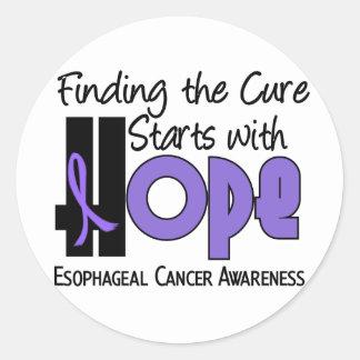 ESPERANZA del esófago 4 del cáncer Pegatina