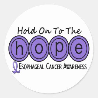 ESPERANZA del esófago 6 del cáncer Pegatina