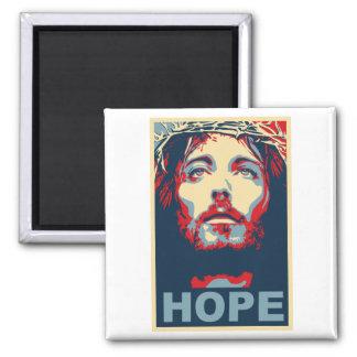 Esperanza del Jesucristo Imán Cuadrado