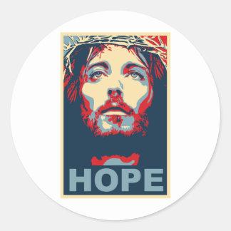 Esperanza del Jesucristo Pegatina Redonda