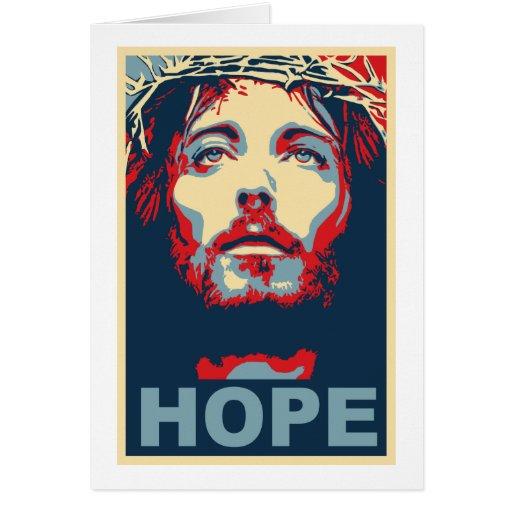 Esperanza del Jesucristo Tarjeta De Felicitación