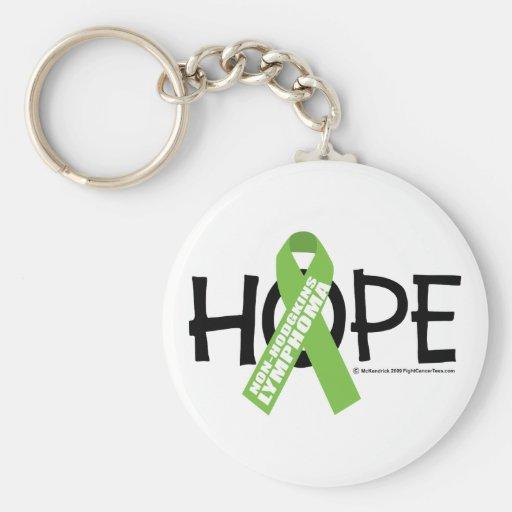 Esperanza del linfoma de Non-Hodgkins Llaveros Personalizados