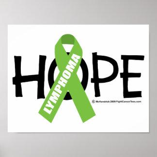 Esperanza del linfoma poster