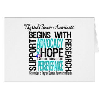 Esperanza del mes de la conciencia del cáncer de t tarjeta de felicitación