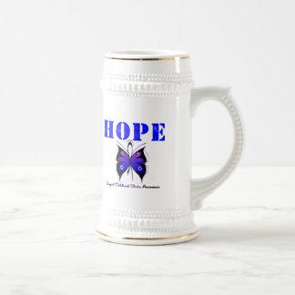 Esperanza del movimiento de la niñez tazas de café
