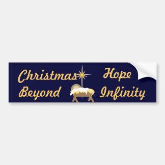 Esperanza del navidad más allá del Infinito-Person Pegatina Para Auto