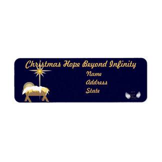 Esperanza del navidad más allá del Infinito-Person Etiquetas De Remite