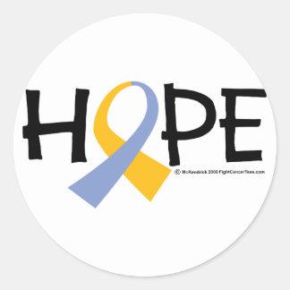 Esperanza del psoriasis pegatina redonda