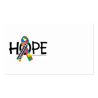 Esperanza del síndrome de Asperger Tarjetas De Visita