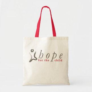 Esperanza del tote del niño bolsa tela barata