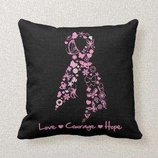 Esperanza del valor del amor - cinta de la maripos almohada