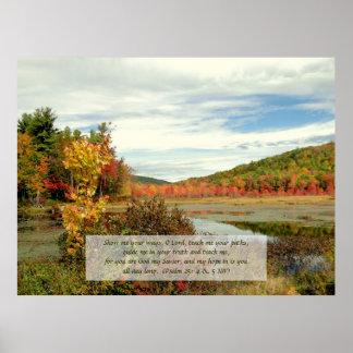 Esperanza en dios, poster del cristiano de la