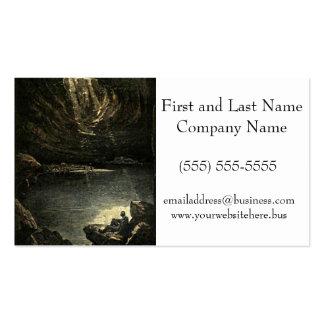 Esperanza en el ejemplo de la cueva de la oscurida plantilla de tarjeta de visita
