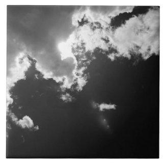 Esperanza en el lado positivo de las nubes azulejo cuadrado grande