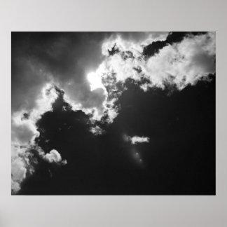 Esperanza en el lado positivo de las nubes posters