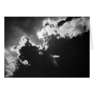 Esperanza en el lado positivo de las nubes tarjeta de felicitación
