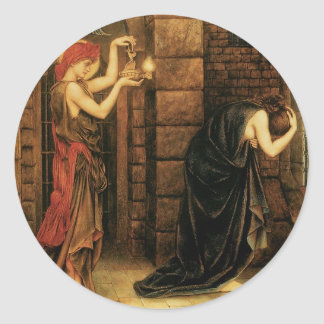 Esperanza en una prisión de la desesperación de pegatina redonda