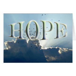 Esperanza - estímulo tarjeta de felicitación
