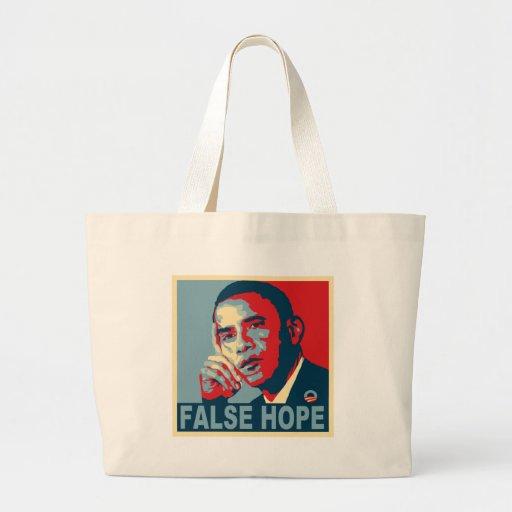 Esperanza falsa Obama Bolsas Lienzo