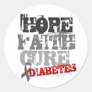 Esperanza. Fe. Curación. Diabetes Pegatina Redonda