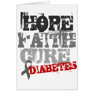 Esperanza. Fe. Curación. Diabetes Tarjeta De Felicitación