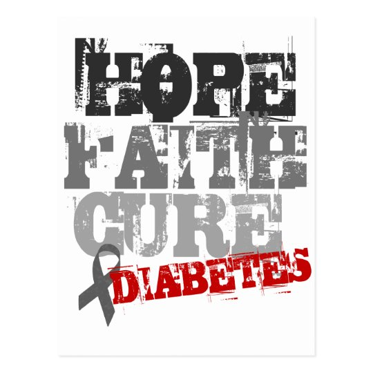 Esperanza. Fe. Curación. Diabetes Tarjetas Postales