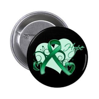 Esperanza floral de la cinta - cáncer de hígado pins
