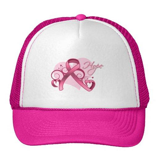Esperanza floral de la cinta - cáncer de pecho gorras
