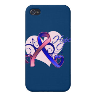 Esperanza floral de la cinta - cáncer de pecho mas iPhone 4/4S funda