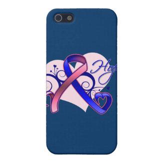 Esperanza floral de la cinta - cáncer de pecho mas iPhone 5 carcasas