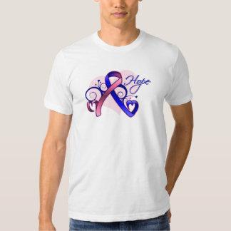 Esperanza floral de la cinta - cáncer de pecho playera