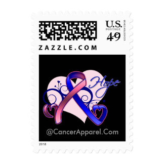Esperanza floral de la cinta - cáncer de pecho sello postal