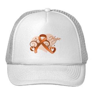 Esperanza floral de la cinta - esclerosis múltiple gorra